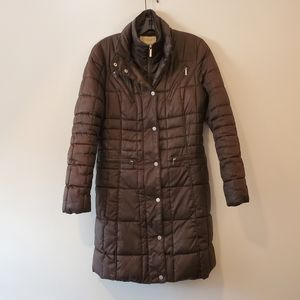 Laundry by Shelli Segal brown puffer coat size S